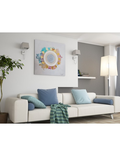 Circular Light Print Canvas