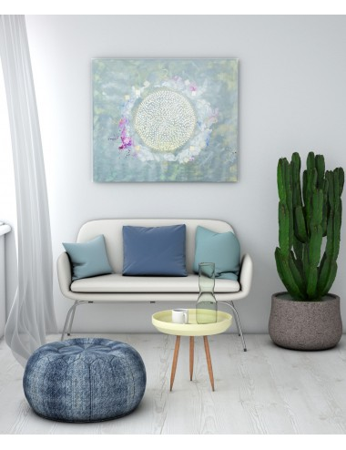 Mandala of Light Print Canvas