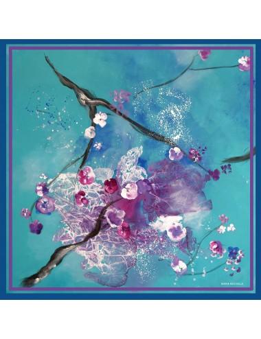 Coloring Petals silk Scarf
