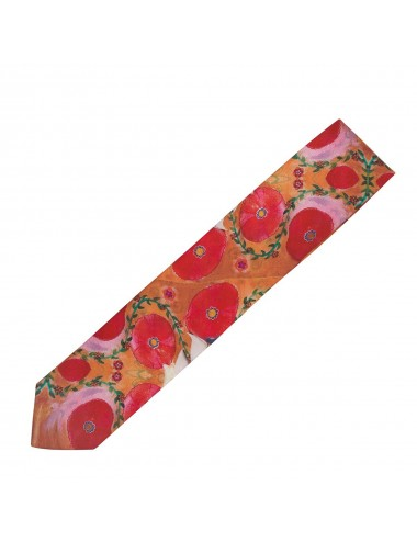 Poppies silk Tie