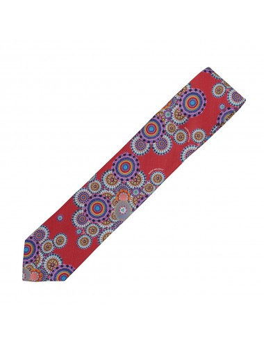 Wheels burgundy silk Tie