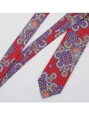 Wheels burgundy silk Tie