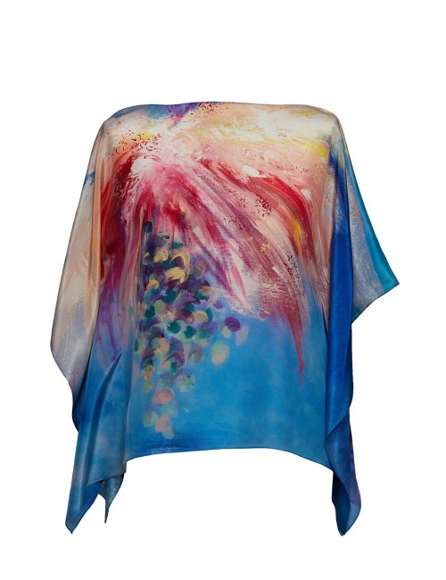 Flowers Whispers silk Kaftan