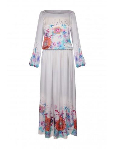 Mandala Sakura Print Dress