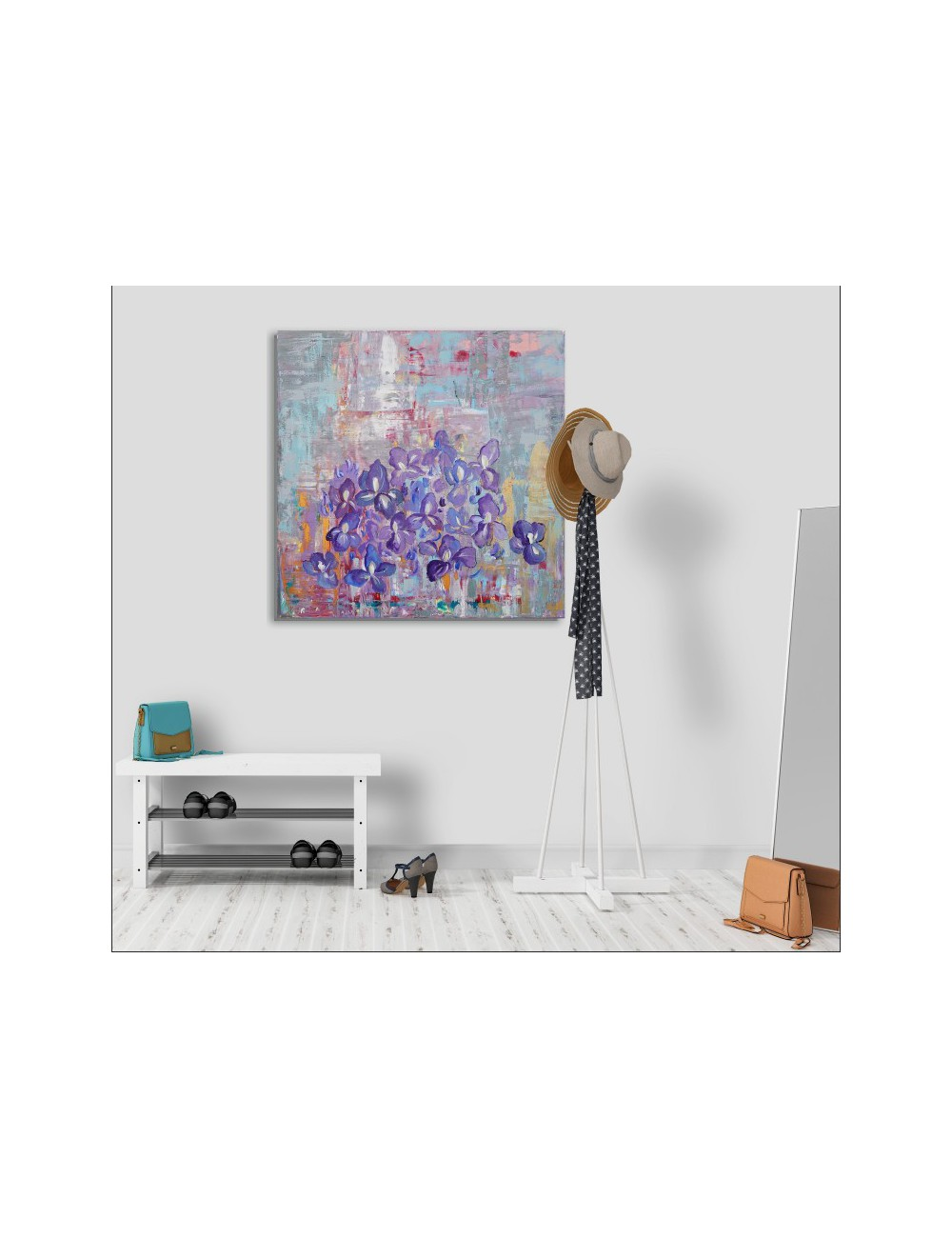 Irises Print Canvas
