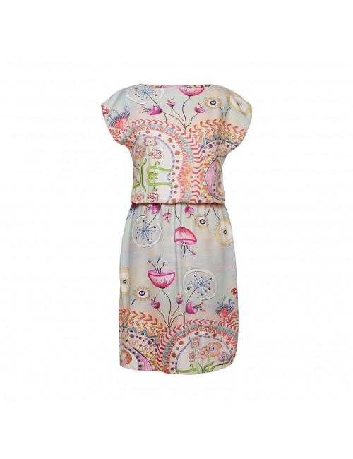 Viscose Dress Happy Hills elastic waist