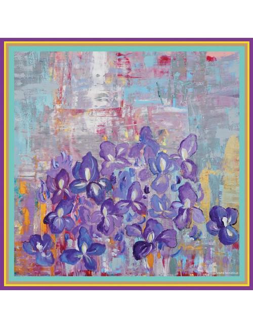 Esarfa matase Irises