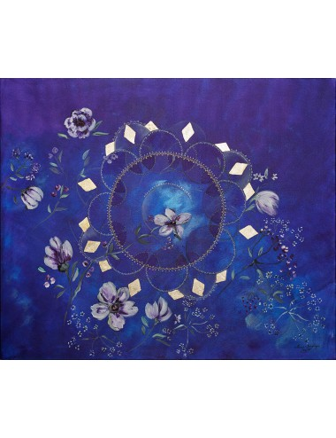 Indigo Essence Silk Scarf