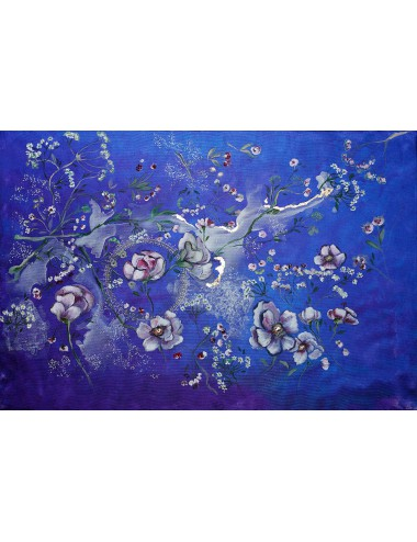 Garden at Midnight Silk Scarf