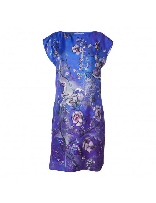 Midnight Garden silk dress