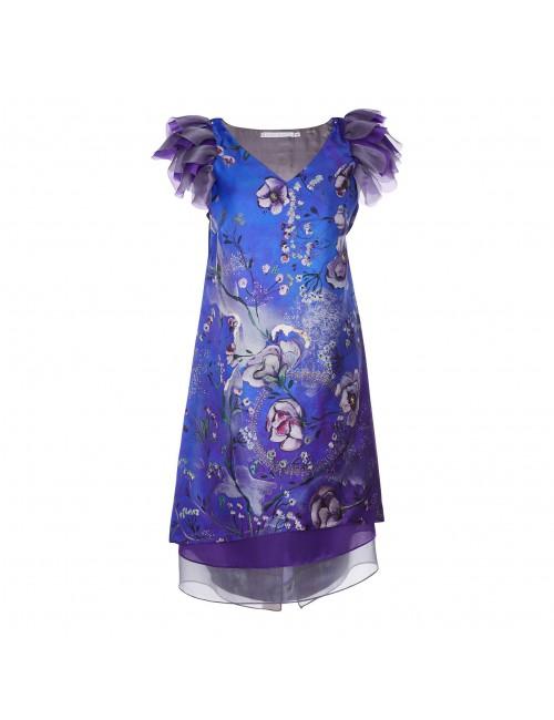 Midnight Garden silk organza dress