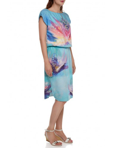 Viscose Dress Flowers Whispers