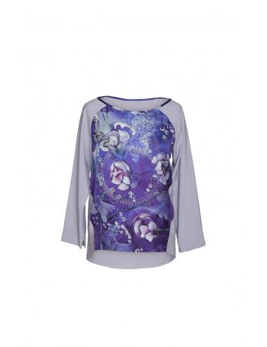 Midnight Garden silk Blouse