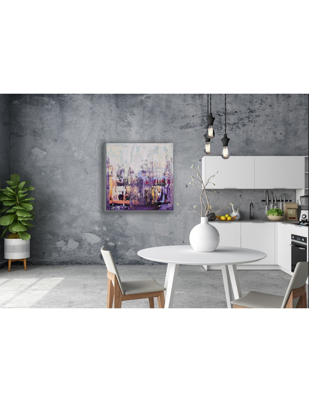 Spring over the city Print canvas