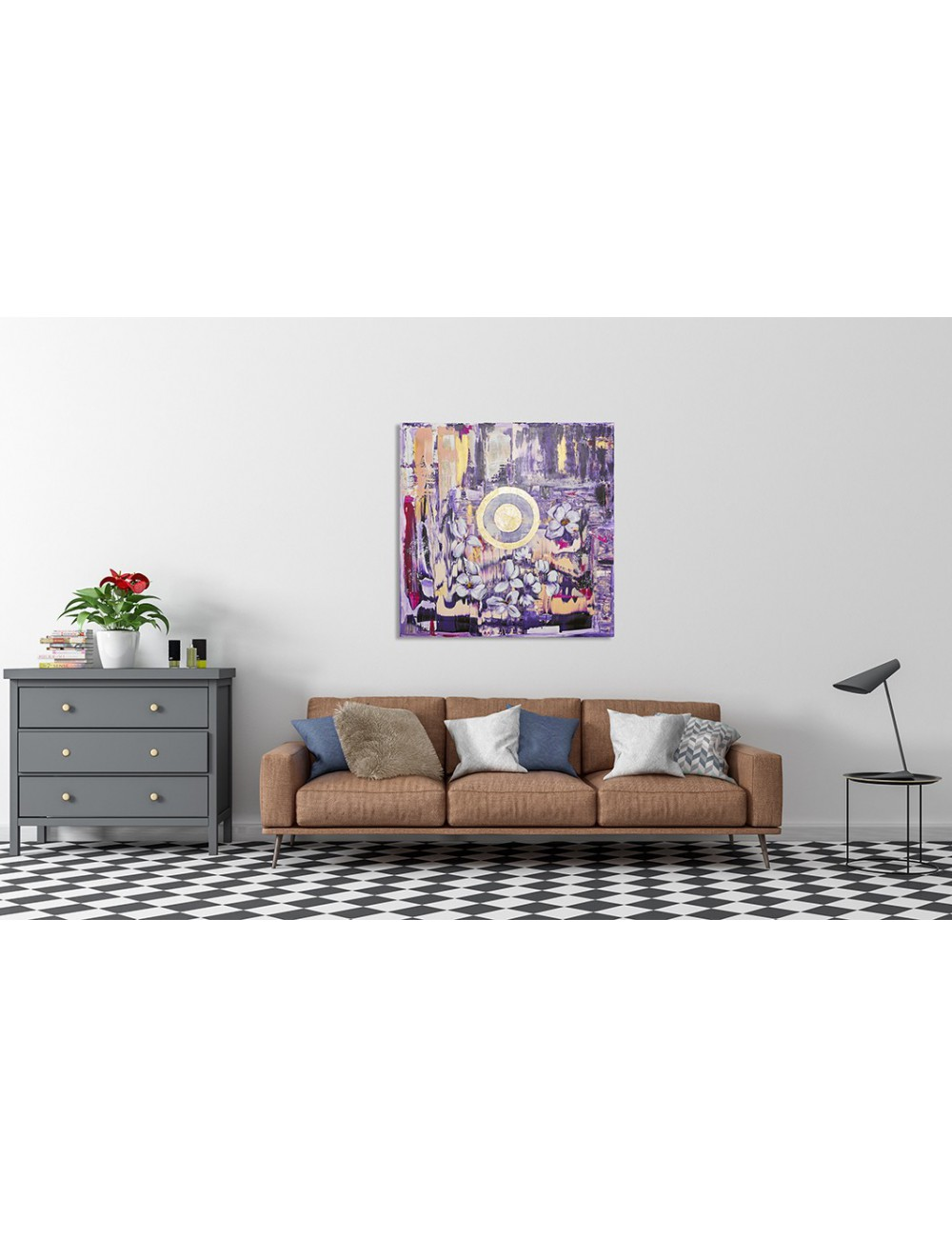 Centered Print canvas
