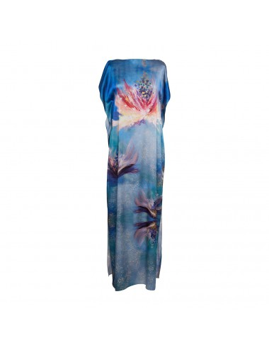 Flowers Whispers silk Kaftan Dress