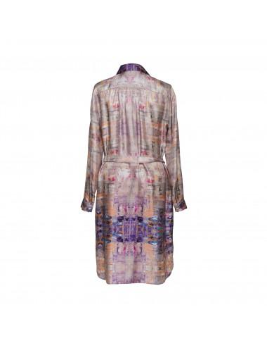 Golden Lake silk Shirt Dress