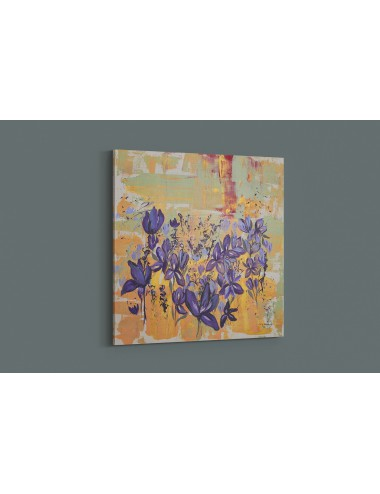 Irises in the Field Print canvas