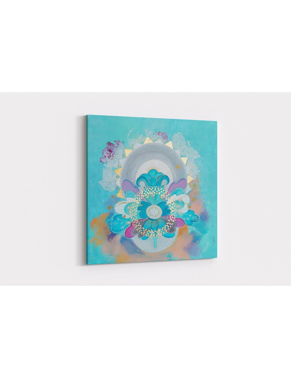 White Lilac Print canvas