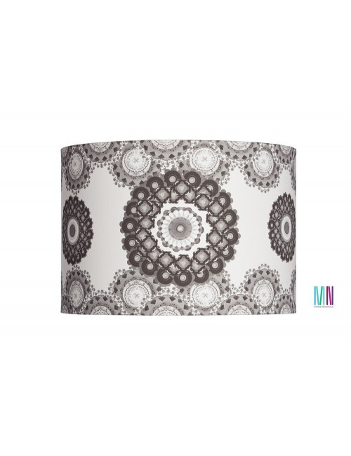 Floor lamp Flower Mandala black/white