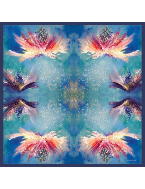 Flowers Whispers Silk Scarf