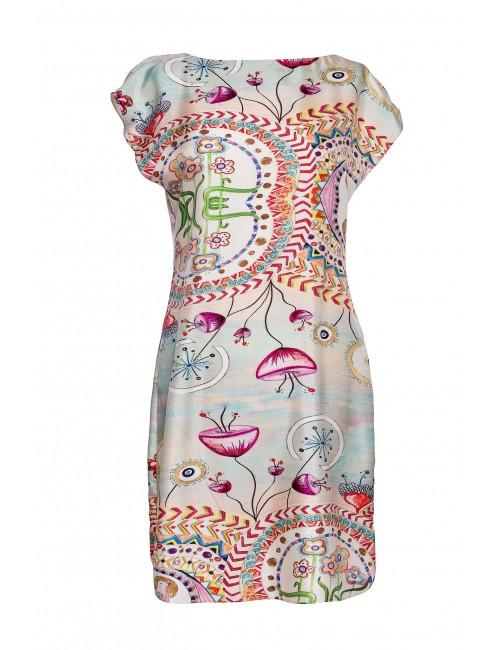 Happy Hills silk dress