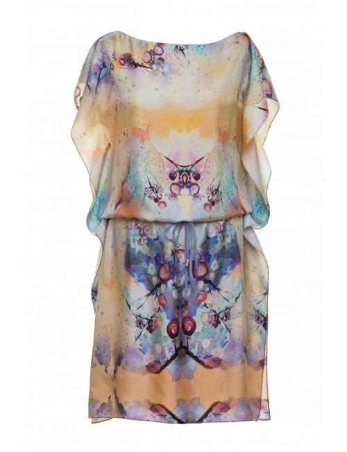 Kaftan silk Dress Kaleidoscope