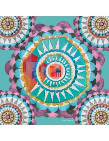 Circular Wishes silk Scarf