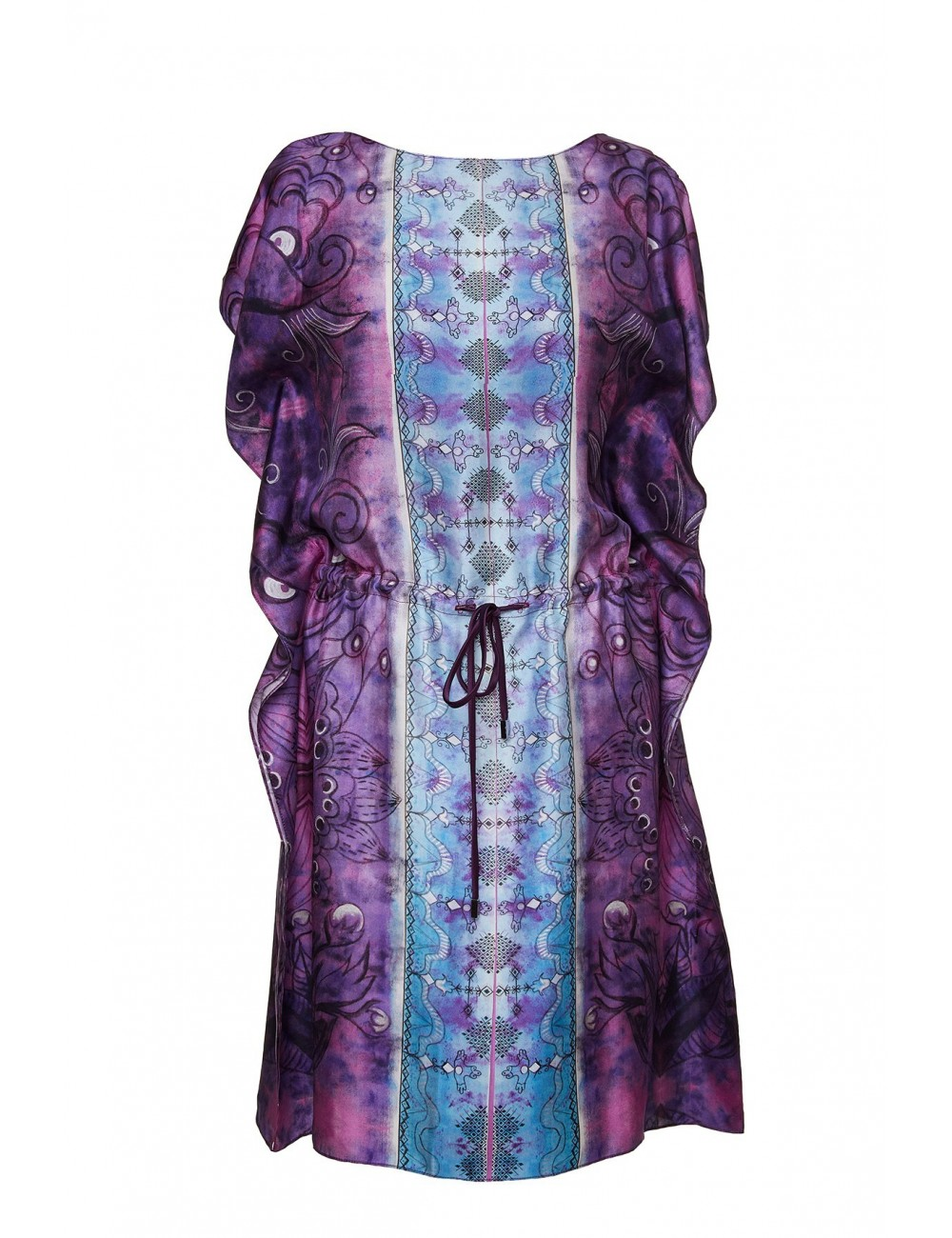 Emotive silk kaftan dress